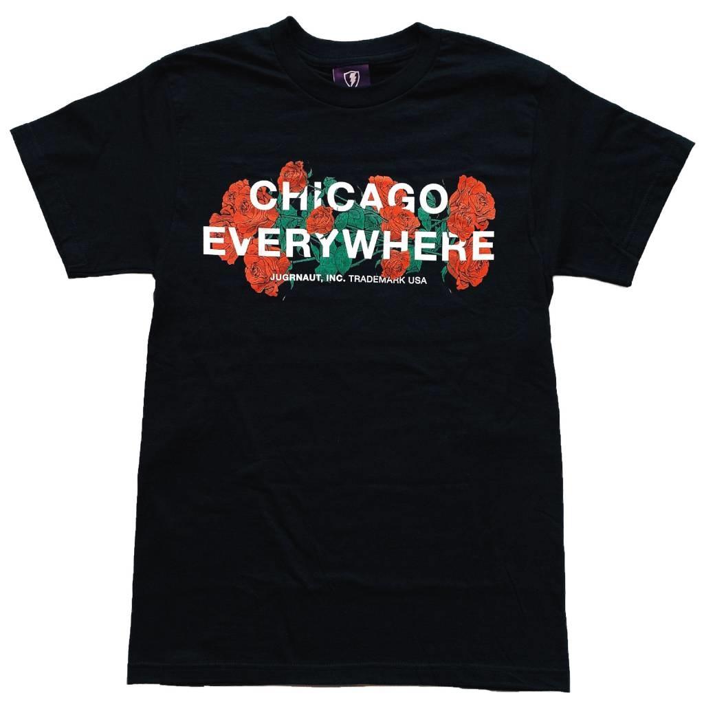 Jugrnaut Jugrnaut Chicago Everywhere Roses Black Tee
