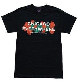 Jugrnaut Jugrnaut Kids Chicago Everywhere Roses Black Tee