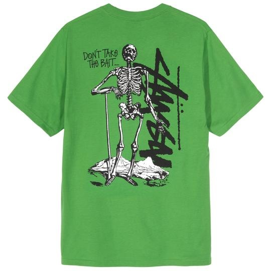 Stussy Stussy Don't take The Bait Tee Kelly Green