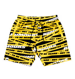 Rumours Rumours Yellow Tape Vacation Shorts Yellow