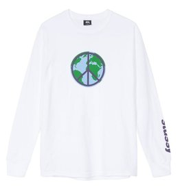 Stussy Stussy World Peace Long Sleeve White