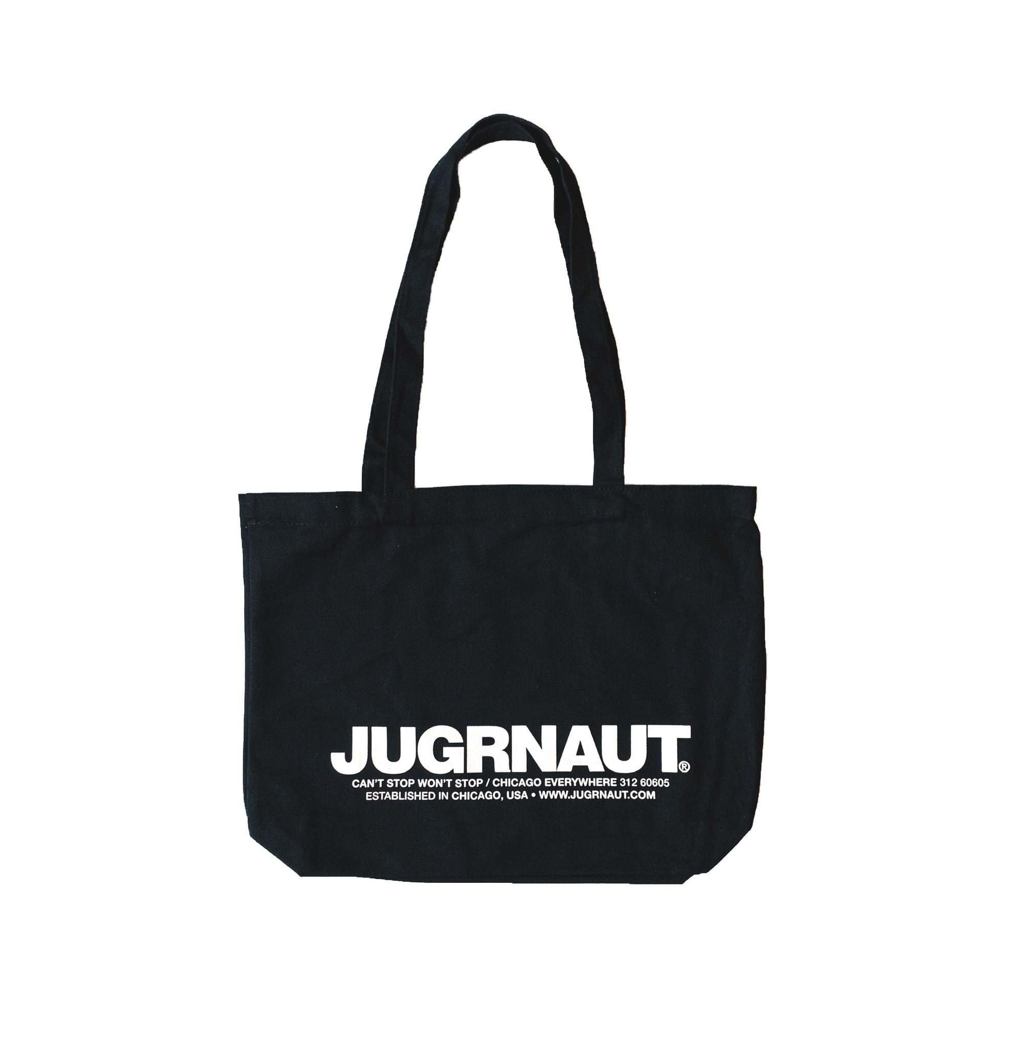Jugrnaut Jugrnaut Heavy Duty Shield/ Spellout Tote Bag