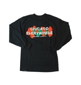 Jugrnaut Jugrnaut Chicago Everywhere Roses Black L/S Tee