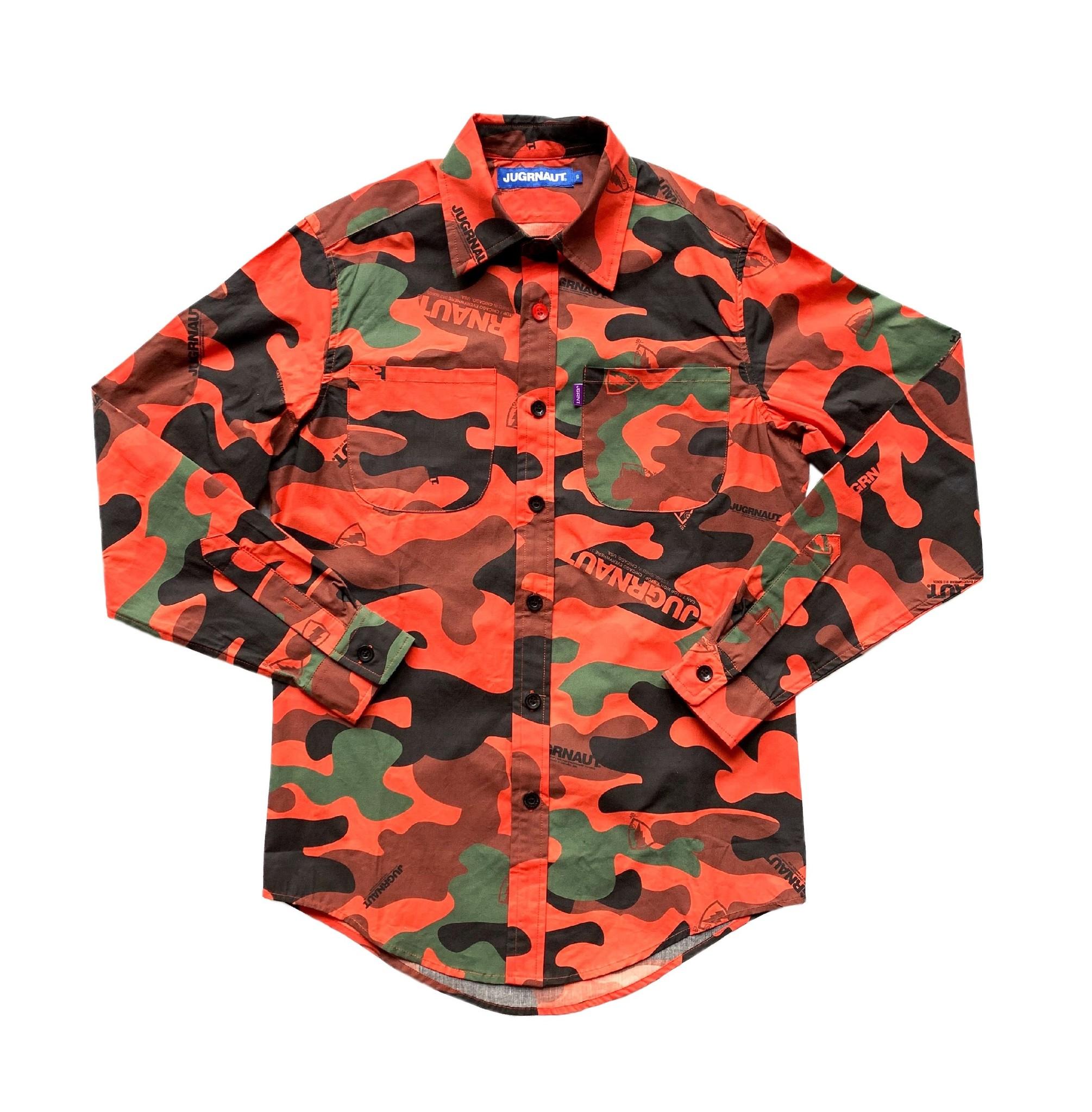 Jugrnaut Jugrnaut Sig Panthro Button Up Orange Camo