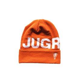 Jugrnaut Jugrnaut Bold Text Logo Beanie Orange
