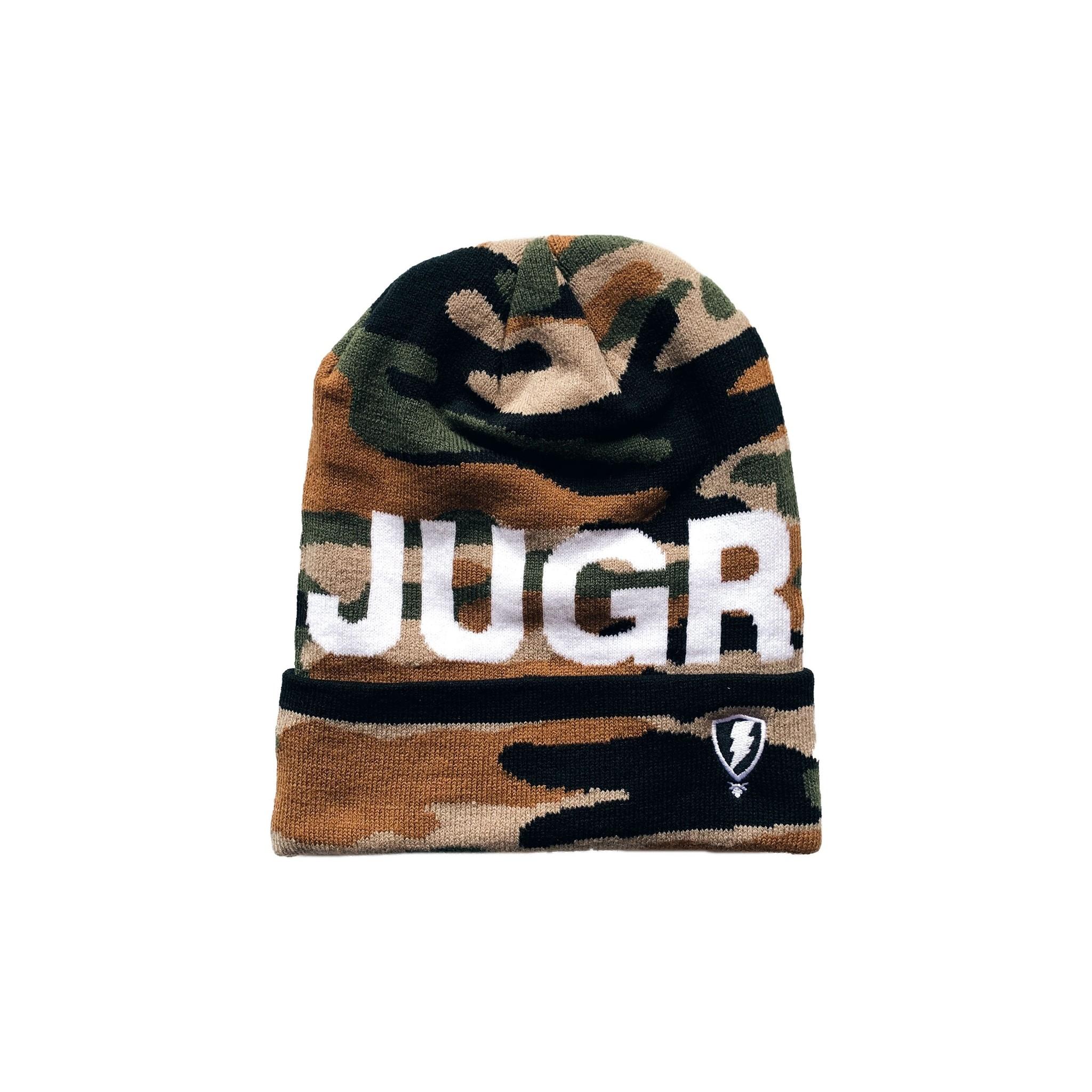Jugrnaut Jugrnaut Bold Text Logo Beanie Camo