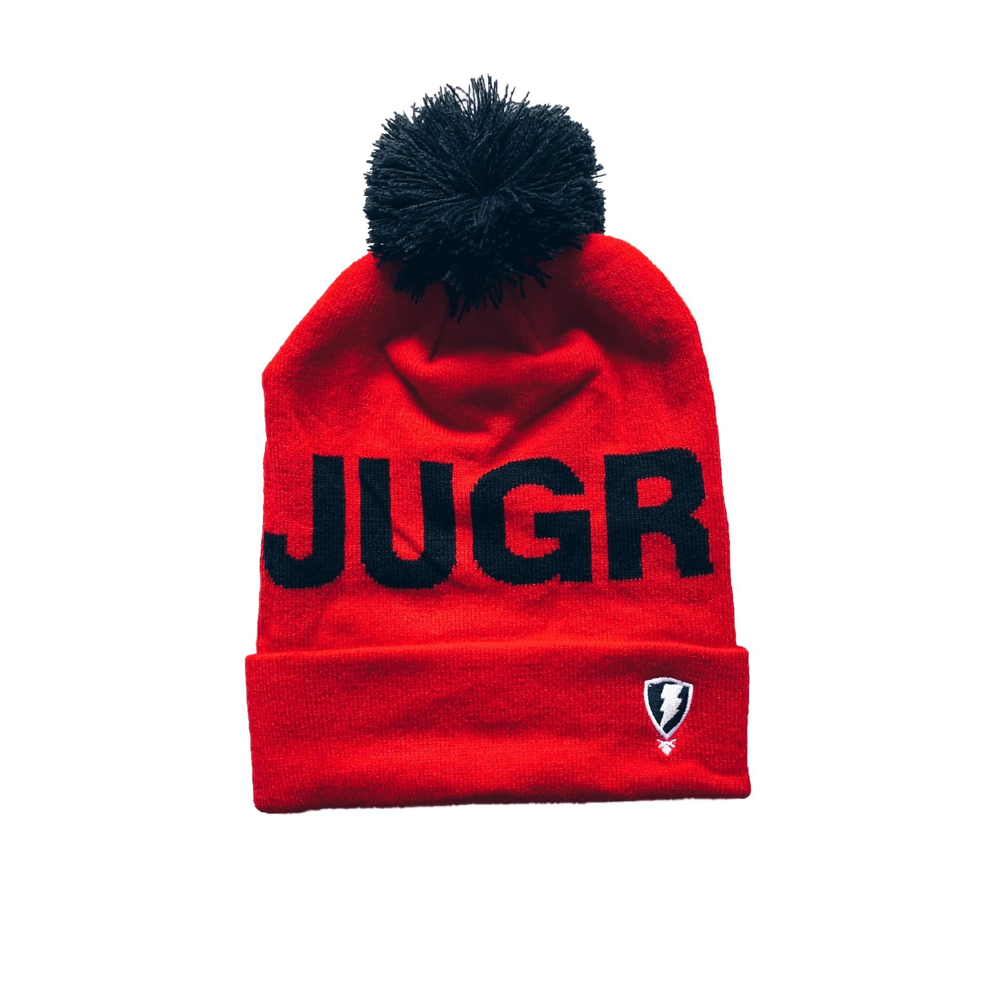 Jugrnaut Jugrnaut Bold Text Logo Beanie Red