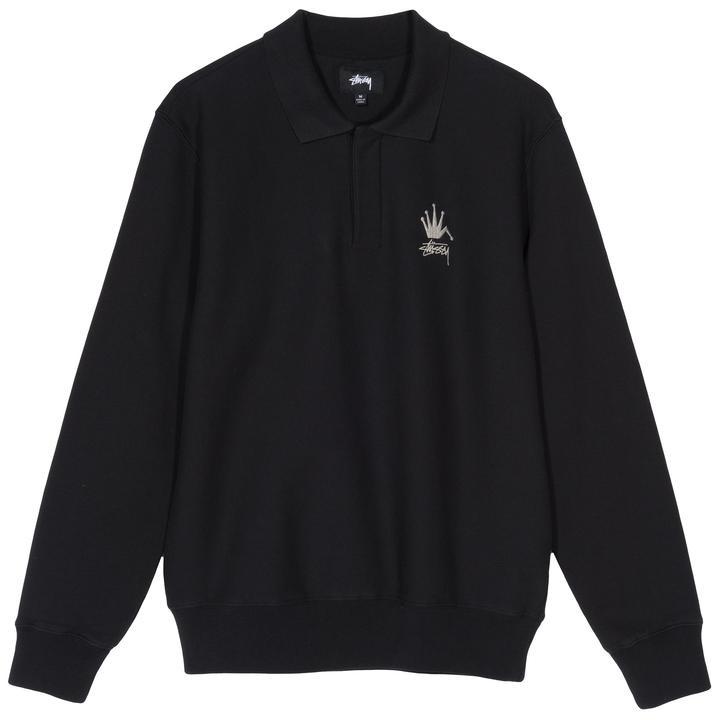Stussy Stussy Polo Fleece Black