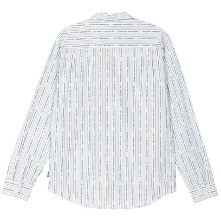 Stussy Stussy Jacquard Stripe Shirt White