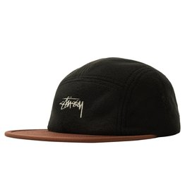 Stussy Stussy Fleece Nylon Camp Cap Black