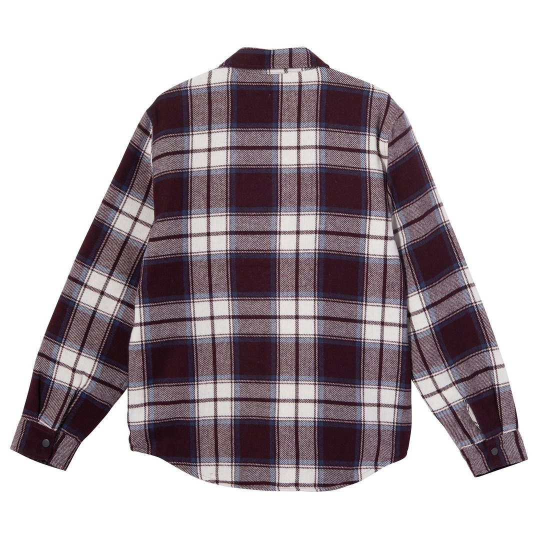 Stussy Stussy Max Plaid Quilted button up Burg