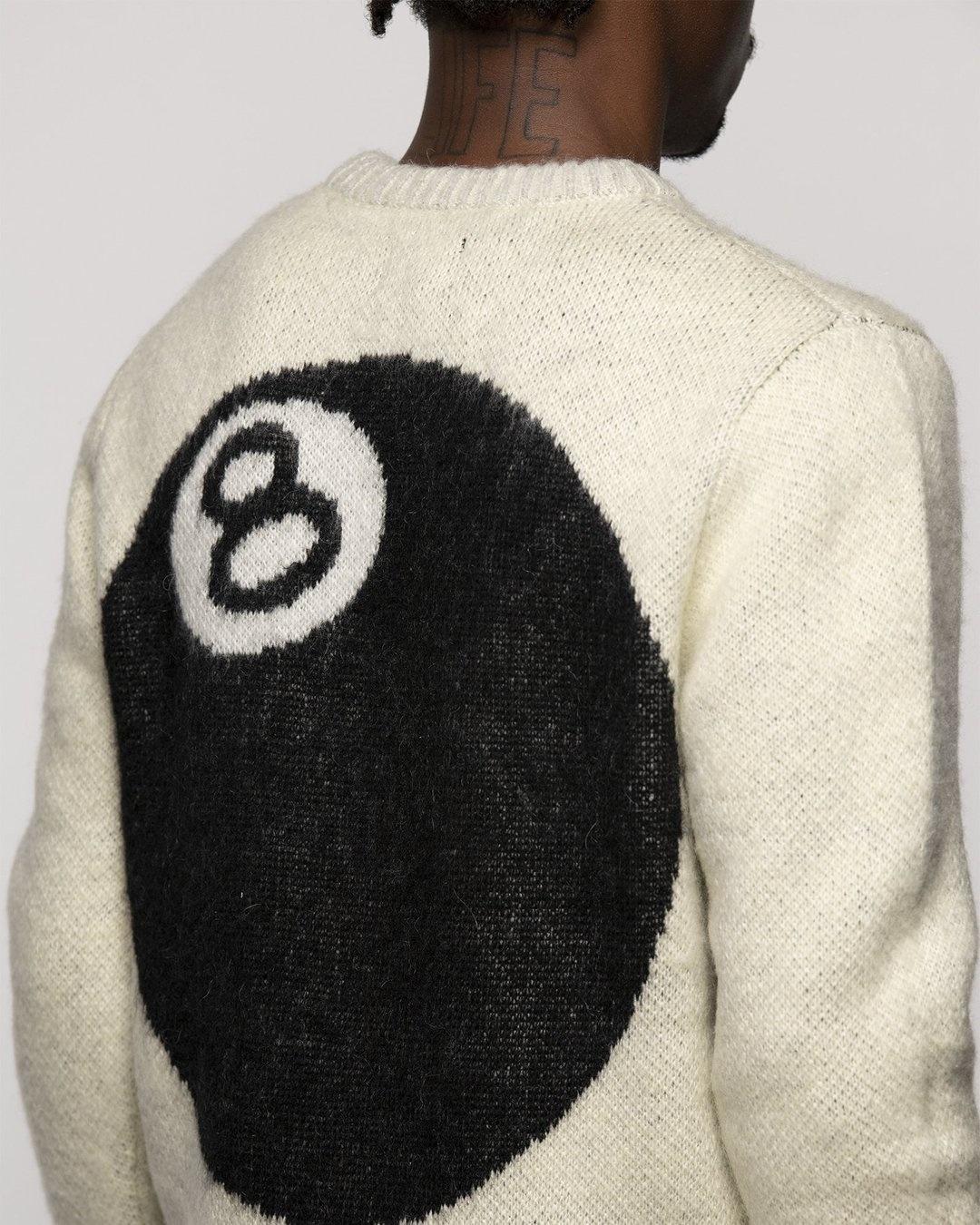 Stussy Stussy 8 Ball Mohair sweater Cream
