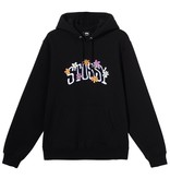 Stussy Stussy Collegiate Floral Hoody Black