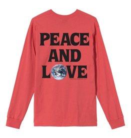Stussy Stussy Peace amd Love Long Sleeve Pale Red