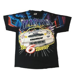 Vintage Vintage J Nascar Mark Martin 6Shooter T Black XL