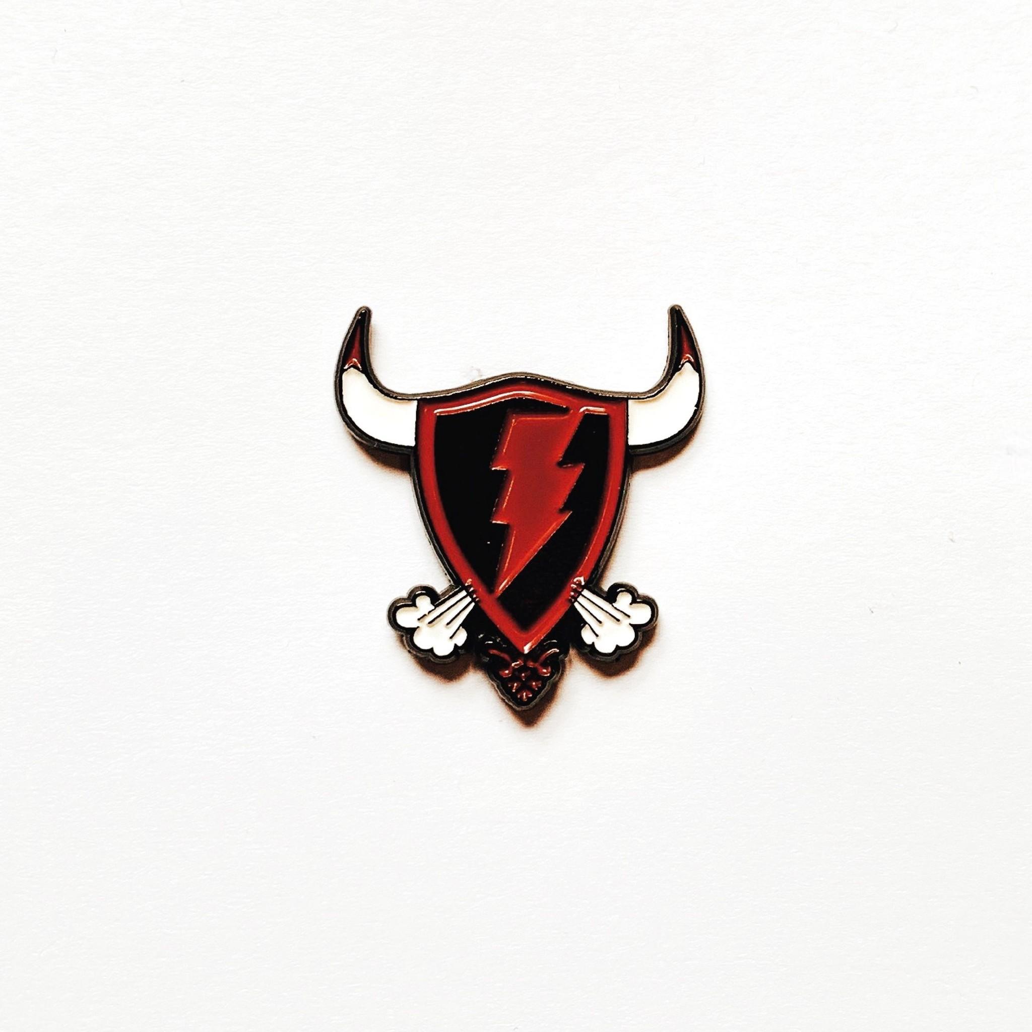 Jugrnaut Jugrnaut Bulls Shield Enamel Pin