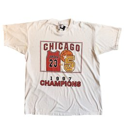 Vintage Vintage J Chicago Bulls 97 Champs White XL