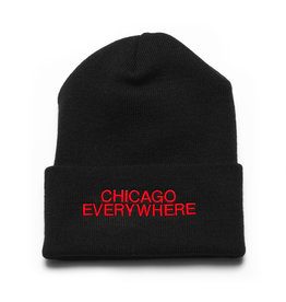 Jugrnaut Jugrnaut Chi Everywhere / Shield Beanie Blk/Red