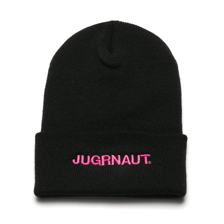 Jugrnaut Jugrnaut Script Beanie Thinsulate black/pink