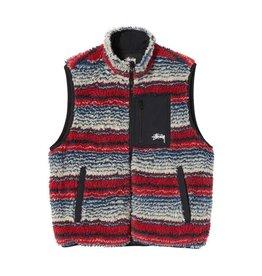 Stussy Stussy Striped Sherpa Vest Milti