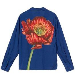 Stussy Stussy Big Poppy LS Shirt Blue