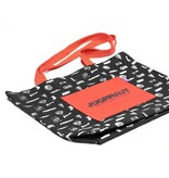 Jugrnaut Jugrnaut All over logo print tote bag/Front pocket Black