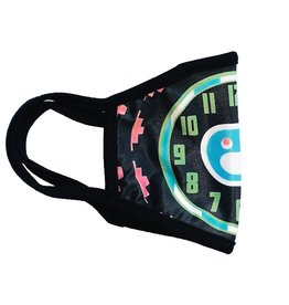 Icecream Icecream Clock Mask Black