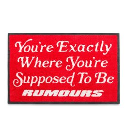 Rumours Rumours Brand Already Home  Rug  2' x 3 ' Red/Whte