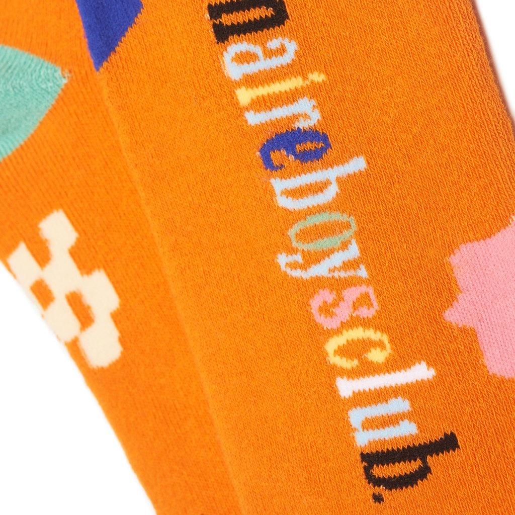 BBC BBC BB Slips Socks Orange