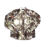 Black Scale Sultan Long Sleeve Button Up