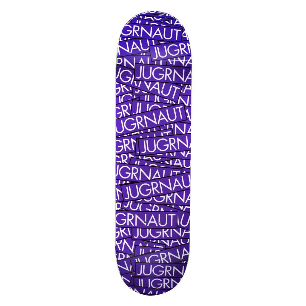 Jugrnaut Jugrnaut Sticker Attack Skate Deck Purple