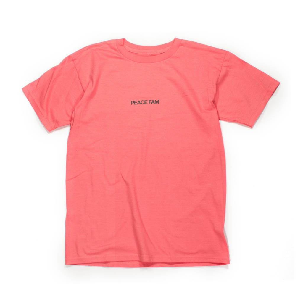 Homecoming USA Peace Fam Tee Pink Homecoming USA