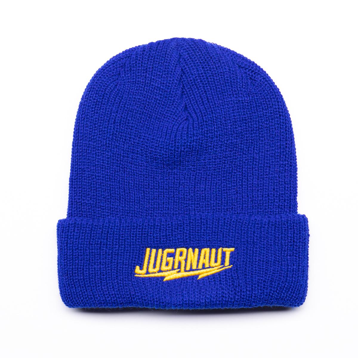 Jugrnaut Jugrnaut Panthro/Script Ribbed Beanie Royal Blue