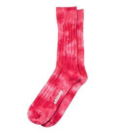 Stussy Stussy Dyed Ribbed Crew Socks Red