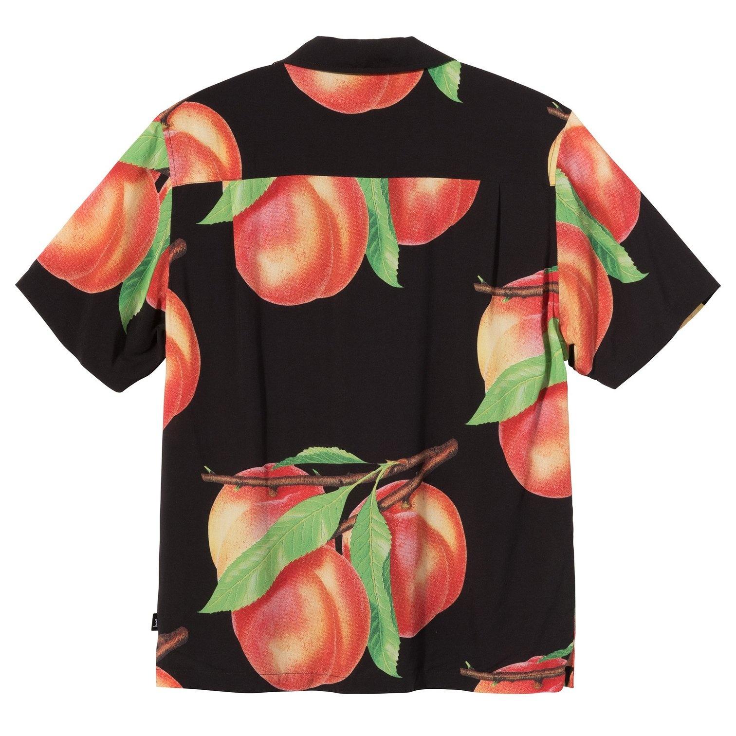 Stussy Stussy Peach Pattern Button Up Black