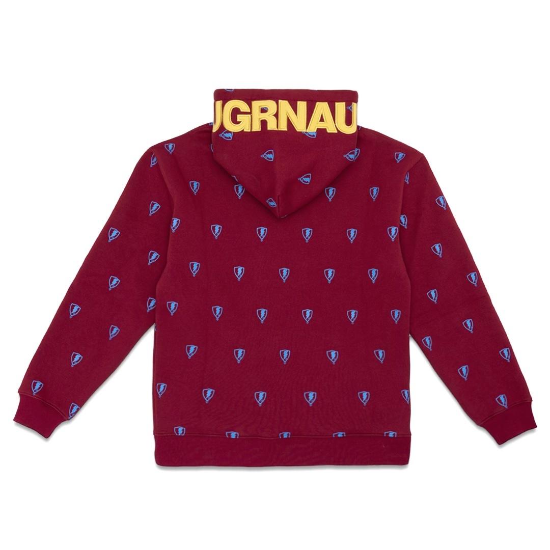 Jugrnaut Jugrnaut All Over Shield Hoodie Hvy Burgundy