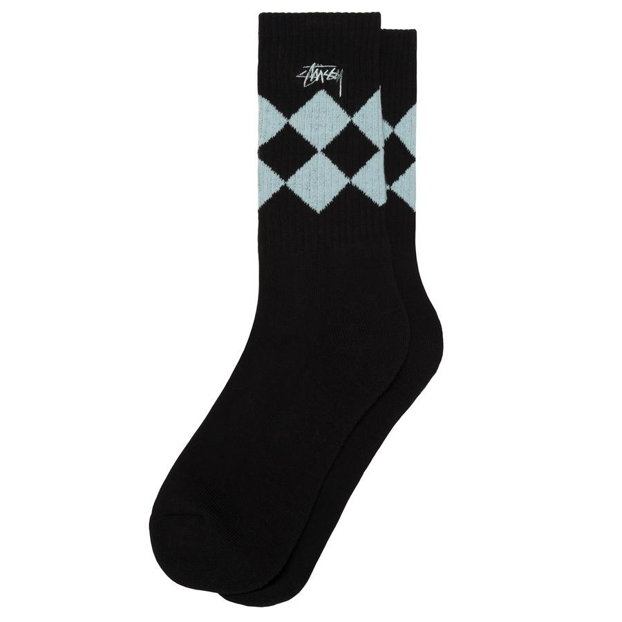 Stussy Stussy Argyle Socks Black