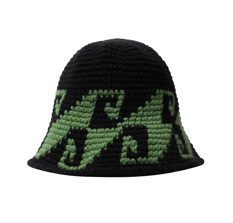 Stussy Stussy Wave Knit Bucket Black