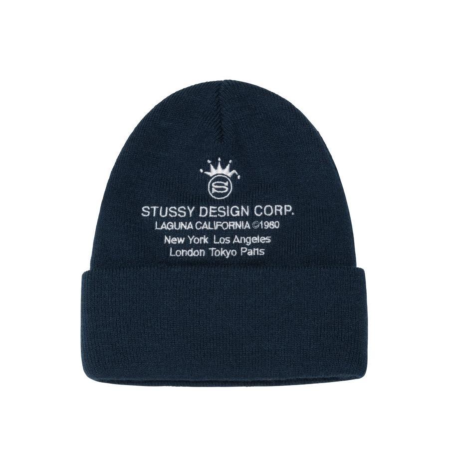 Stussy Stussy Design Corp Cuff Beanie Navy