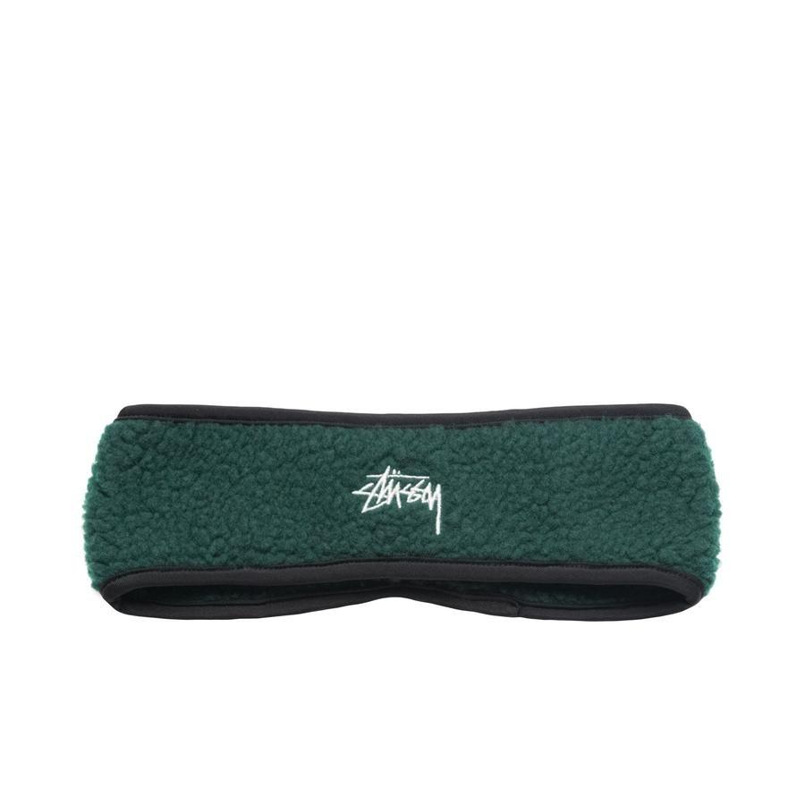 Stussy Stussy Solid Polar Fleece Headband Green