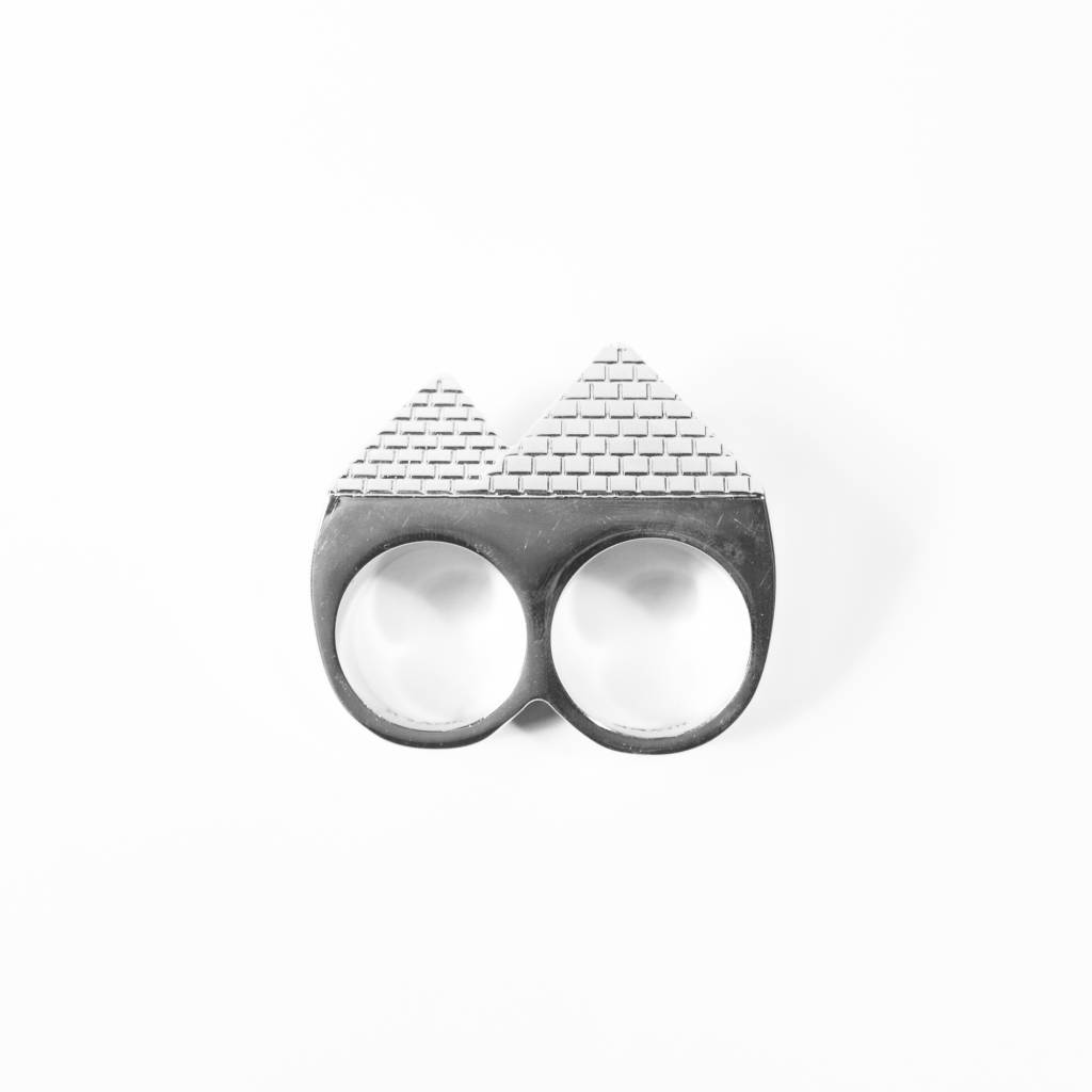 Black Scale Pyramid Two-Ring