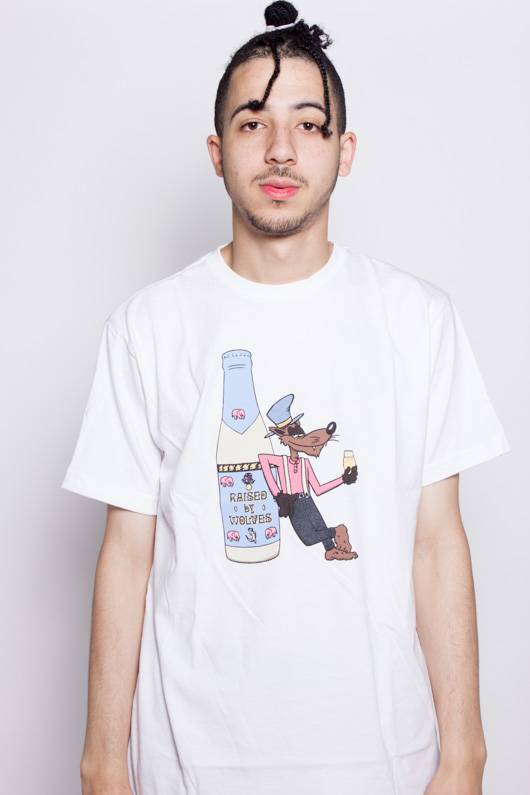 Raised By Wolves Rasied By Wolves Wolf Tee White