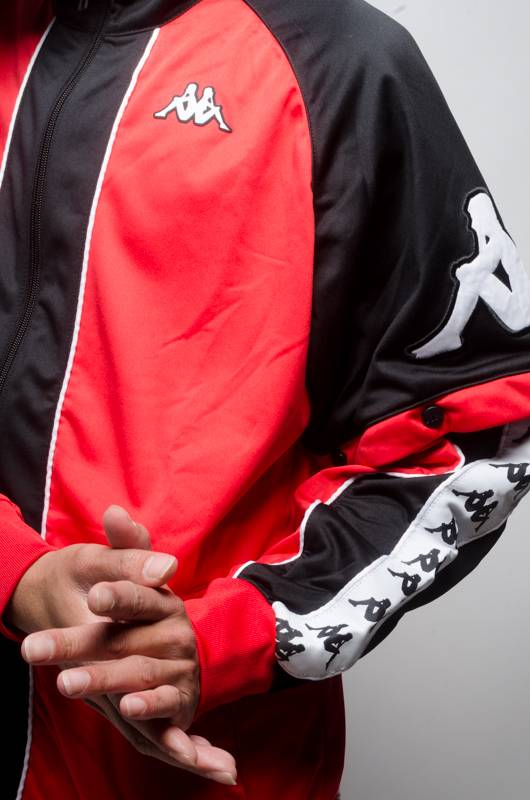 Kappa Banda Hunt Zip Red/Blk/White