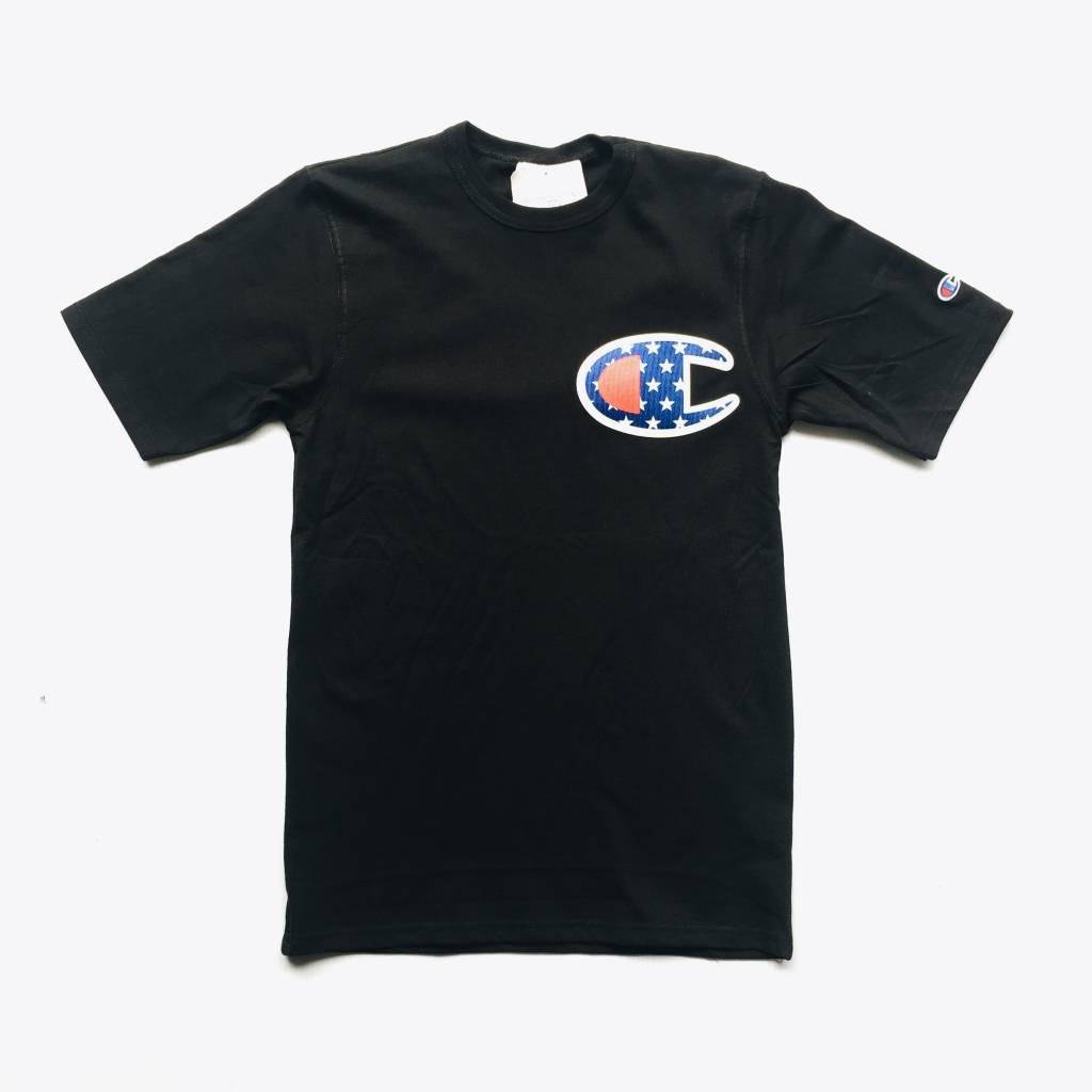 Champion Champion Big C Flag Tee Black