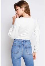 I Love Snow Cream Bodysuit