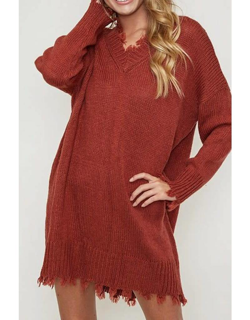 Mark My Words Sweater Dress