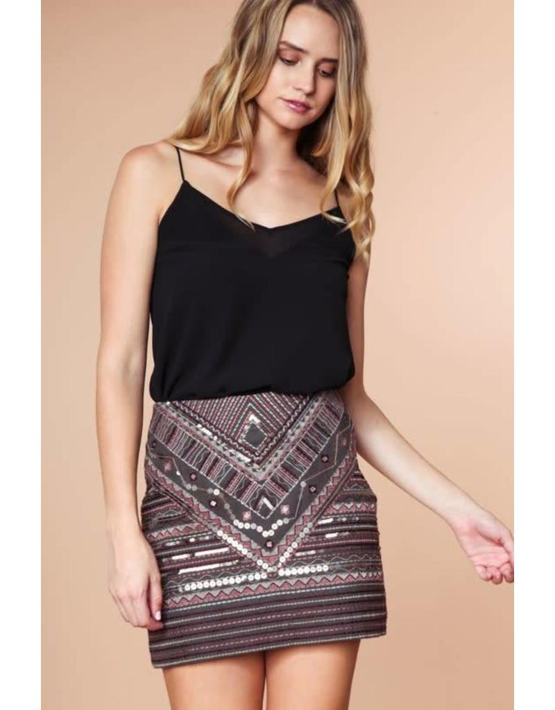 Sequined Stunner Skirt