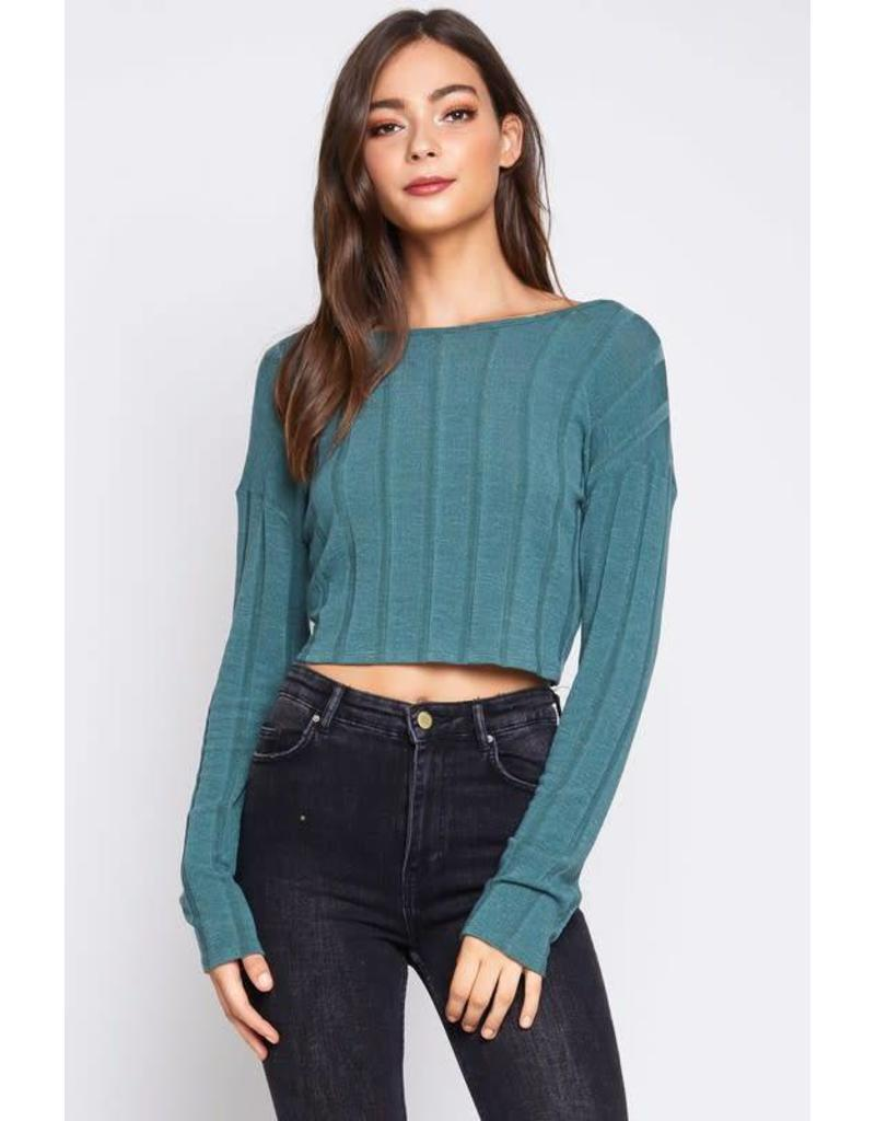 Becky Ribbed Tie Top