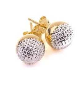 Sheila Fajl Bosnia Studs Mix Gold and Rhodium