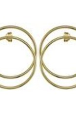 Sheila Fajl Madrid Frontal Hoop Earrings Gold